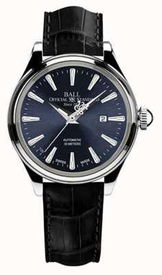 Ball Watch Company Cinturino in alligatore quadrante nero per signore eternity di Trainmaster NL2080D-LJ-BE