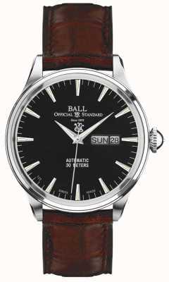 Ball Watch Company Display eternity nero di Trainmaster per l'ora e la data NM2080D-LJ-BK