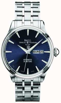 Ball Watch Company Quadrante blu eternità Trainmaster automatica visualizzazione giorno e data NM2080D-SJ-BE