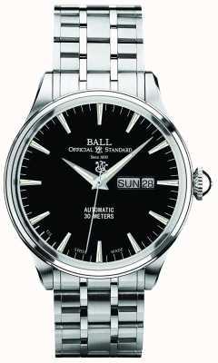Ball Watch Company Quadrante nero eternità Trainmaster automatica visualizzazione giorno e data NM2080D-SJ-BK