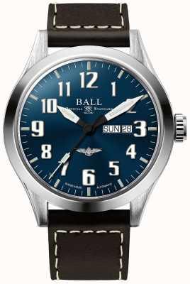 Ball Watch Company Indicatore del giorno e della data del quadrante blu argento stella ingegnere iii NM2180C-L2J-BE