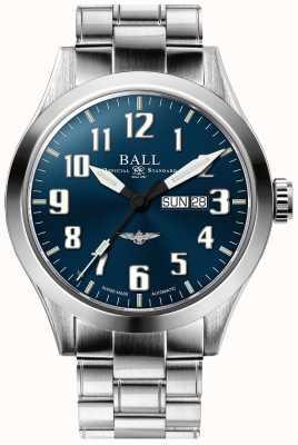 Ball Watch Company Indicatore del giorno e della data del quadrante blu argento stella ingegnere iii NM2180C-S2J-BE