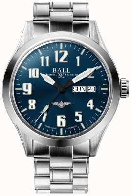 Ball Watch Company Bracciale in acciaio inossidabile con quadrante blu con stella argento NM2182C-S2J-BE