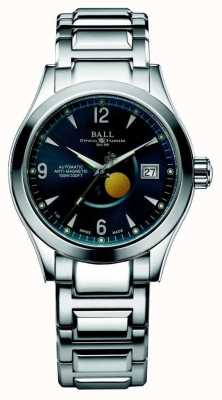 Ball Watch Company Display della data del quadrante blu automatico della fase lunare dell'Ohio NM2082C-SJ-BE