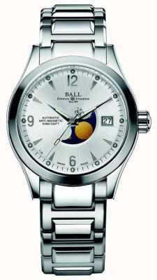 Ball Watch Company Display della data del quadrante in argento automatico della fase dell'Ohio in Ohio NM2082C-SJ-SL