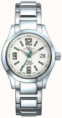 Ball Watch Company Ingegnere ii datario automatico con quadrante bianco antimagnetico NM1020C-S4-WH