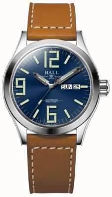 Ball Watch Company Orologio da polso Genesis II genesis blu cinturino in pelle marrone giorno e data NM2026C-LBR7-BE