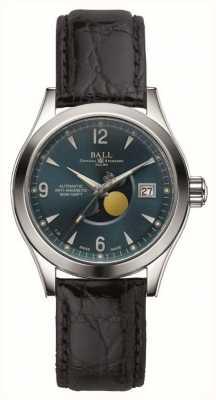 Ball Watch Company Cinturino in pelle con datario automatico della fase della luna dell'Ohio NM2082C-LJ-BE