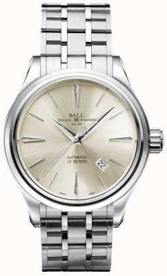 Ball Watch Company Data Trainmaster leggenda automatica quadrante in acciaio inossidabile NM3080D-SJ-SL