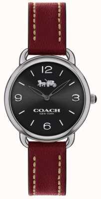 Coach Cinturino in pelle rossa da uomo orologio delancey slim 14502792