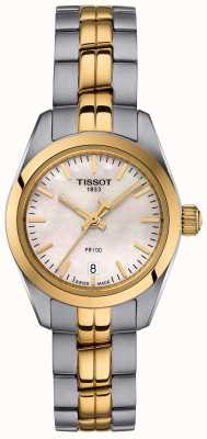 Tissot Orologio da donna con quadrante in madreperla a due toni T1010102211100