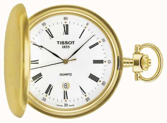 Tissot Orologio da taschino savonette placcato oro prodotto in Svizzera T83455313