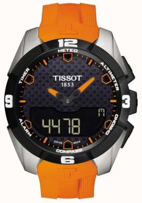 Tissot Cronografo da uomo con allarme t-touch Expert in titanio solare T0914204705101