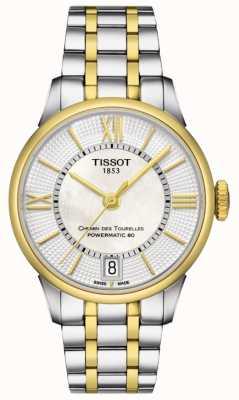 Tissot Womens chemin des tourelles automatico bicolore svizzero realizzato T0992072211800