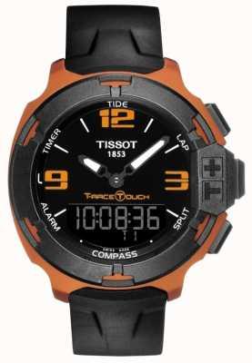 Tissot Cinturino in caucciù nero da uomo t-race touch alarm T0814209705703