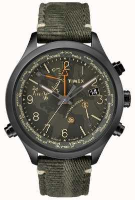 Timex Orologio in tessuto Waterbury da 43mm con tempo mondiale TW2R43200VQ