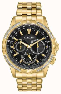 Citizen Mens cross-drive eco-drive placcato in oro 32 diamanti BU2082-56E