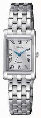 Citizen Bracciale con quadrante argentato da donna EJ6120-54A