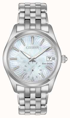 Citizen Quadrante argentato da donna in eco-drive EV1030-57D