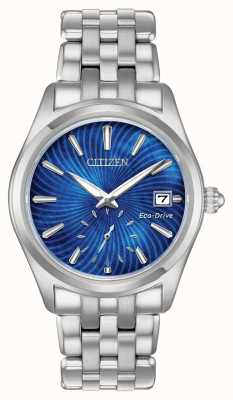 Citizen Womens eco-drive quadrante blu in acciaio inossidabile wr100 EV1030-57N