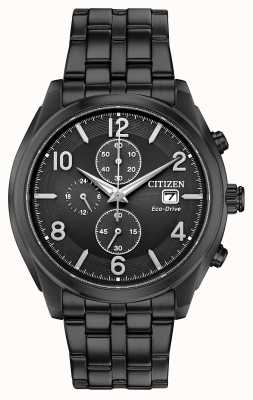 Citizen Orologio datario in pvd nero con display eco-drive wr100 CA0675-57E