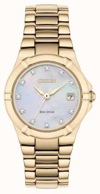 Citizen Disco da donna con eco-diamante diamantato placcato oro rosa EW1533-50D