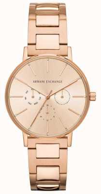 Armani Exchange Lola placcato oro rosa per donna AX5552