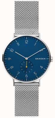 Skagen Quadrante blu con quadrante blu in acciaio inossidabile Aaren SKW6468