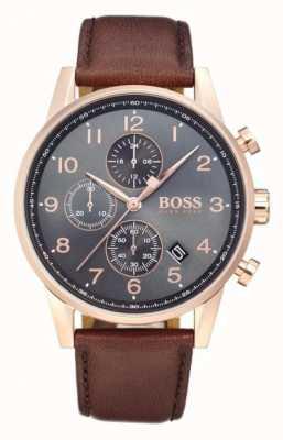 Boss Orologio cronografo con quadrante nero con quadrante nero 1513496