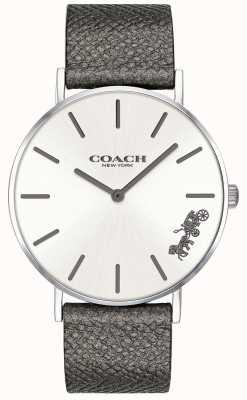 Coach Orologio da donna con cinturino in pelle grigia perry 14503155
