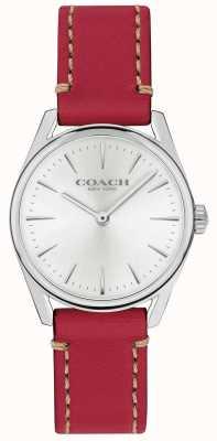 Coach Orologio da donna con cinturino in pelle rossa di lusso moderno 14503205