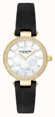 Coach Cinturino in pelle nera di lusso moderno in madreperla 14503103