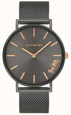 Coach Orologio da donna con cinturino in maglia d'acciaio grigio perry 14503127