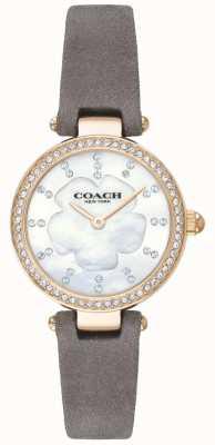 Coach Cinturino in pelle grigio lusso moderno per donna, in madreperla 14503104