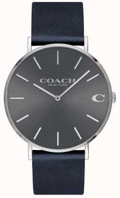 Coach Orologio da uomo con quadrante grigio cinturino blu scuro 14602150
