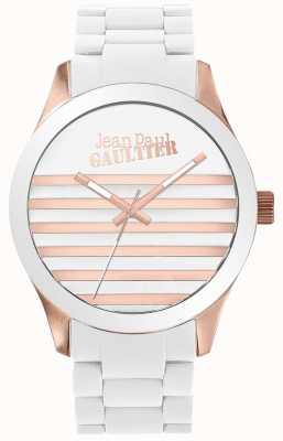 Jean Paul Gaultier Enfants terribles unisex in gomma bianca e oro rosa JP8501126