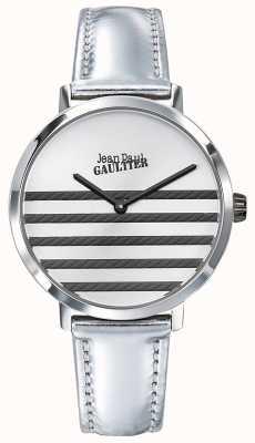 Jean Paul Gaultier Orologio con cinturino in pelle argento Glam Navy JP8505607