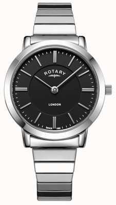 Rotary Orologio da donna con bracciale espandibile in acciaio inossidabile di Londra LB00765/04
