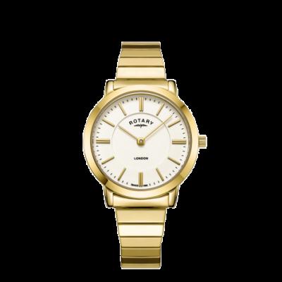 Rotary Orologio da donna con cinturino in espansione in acciaio inossidabile oro londra LB00766/03