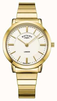 Rotary Orologio da donna con bracciale espandibile in acciaio inossidabile london gold LB00766/03