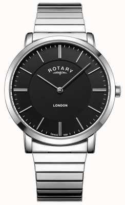 Rotary Orologio da uomo con cinturino in espansione in acciaio inossidabile londra GB02765/04
