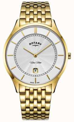 Rotary Bracciale da uomo placcato oro ultra sottile GB08413/02