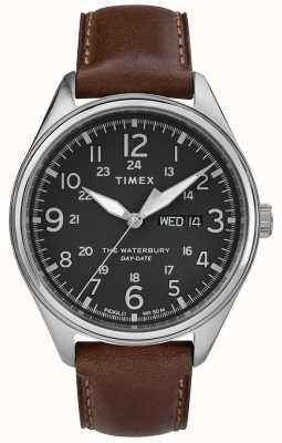 Timex Mens waterbury tradizionale giorno data marrone nero TW2R89000
