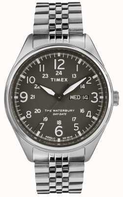 Timex Acciaio da uomo con data tradizionale in acciaio nero TW2R89300