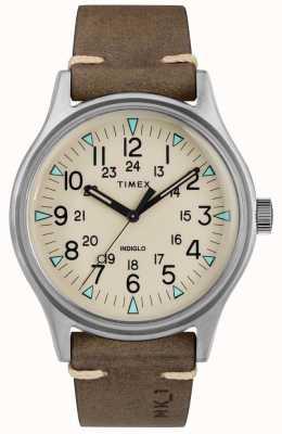Timex Mens mk1 sst chrono 40mm custodia cinturino in pelle marrone TW2R96800