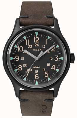 Timex Mens mk1 sst chrono 42mm cassa nera quadrante nero cinturino marrone TW2R96900