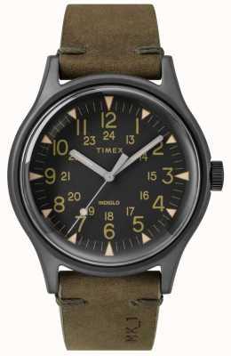 Timex Mens mk1 sst chrono 40mm cassa nera quadrante nero con cinturino verde oliva TW2R97000