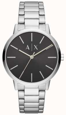 Armani Exchange Orologio da uomo in acciaio inossidabile con quadrante nero AX2700