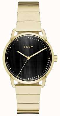 DKNY Orologio da donna con cinturino in oro con quadrante nero NY2756