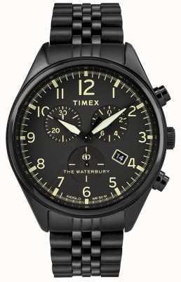 Timex Orologio cronografo tradizionale Waterbury nero TW2R88600D7PF